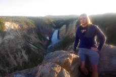 Hanging out at Lower Falls, Yellowstone
